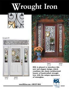 Wrought Iron Doorglass