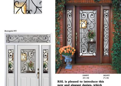 Wrought Iron Doorglass